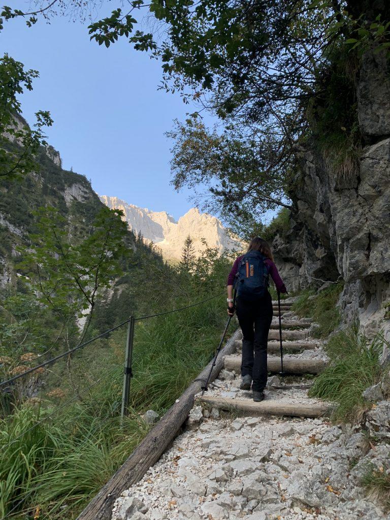Na szczycie zabudowania. To oczywiście Zugspitze