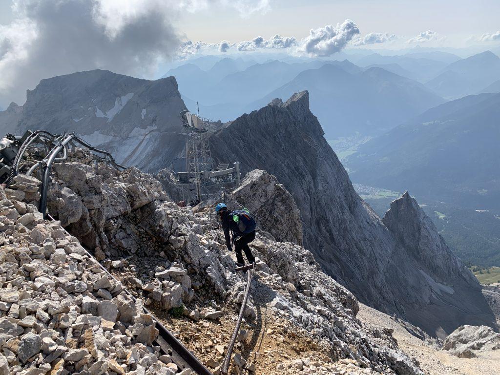Grań Zugspitze do Austrii w stronę Ehrwald