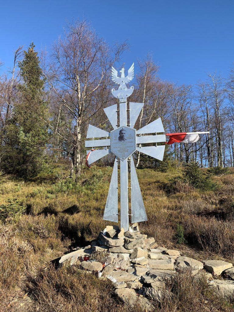Cyrla - Pomnik jest widoczny ze szlaku, znajduje się około 50 m w kierunku północnym