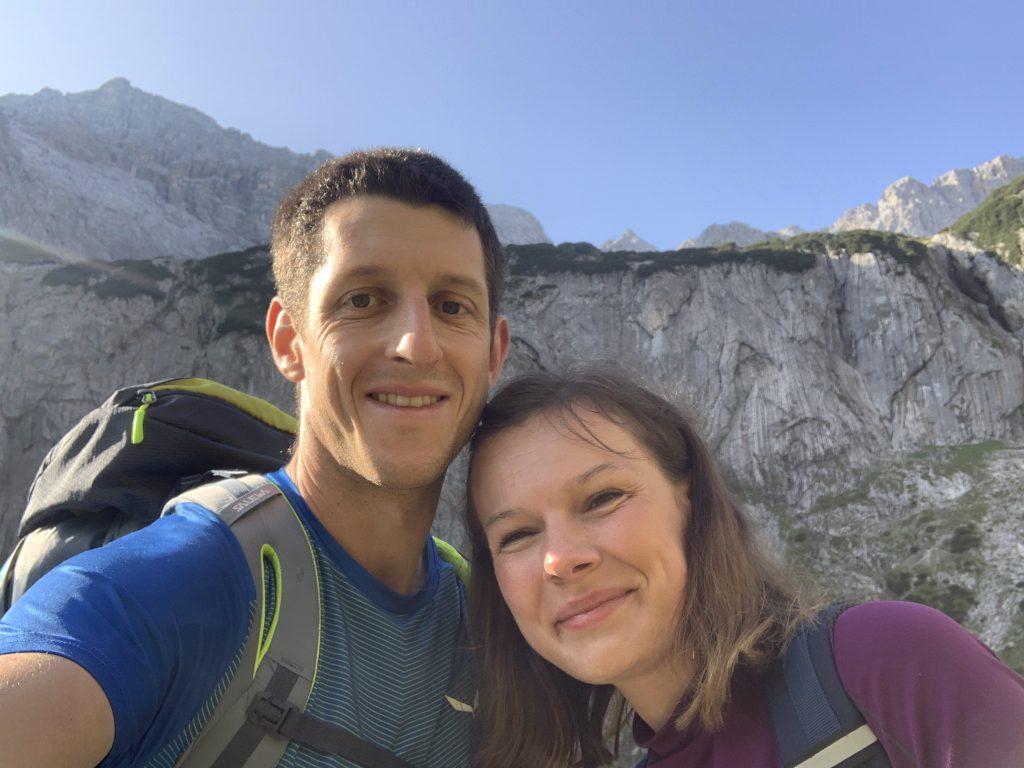 Z panoramą na Alpspitze