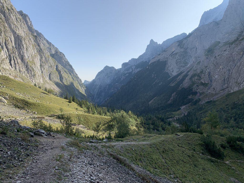 Za wlotem do piekielnej doliny Höllental