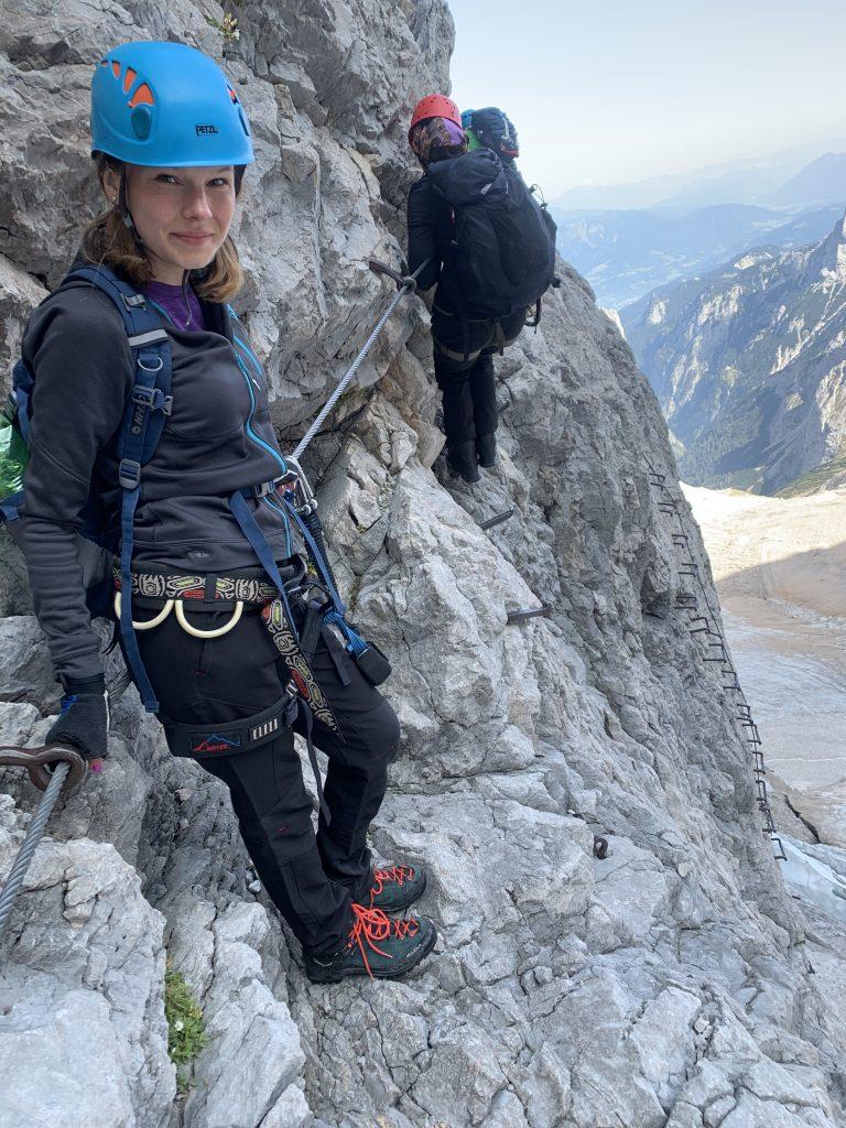 Ostatnia ściana przed szczytem Zugspitze