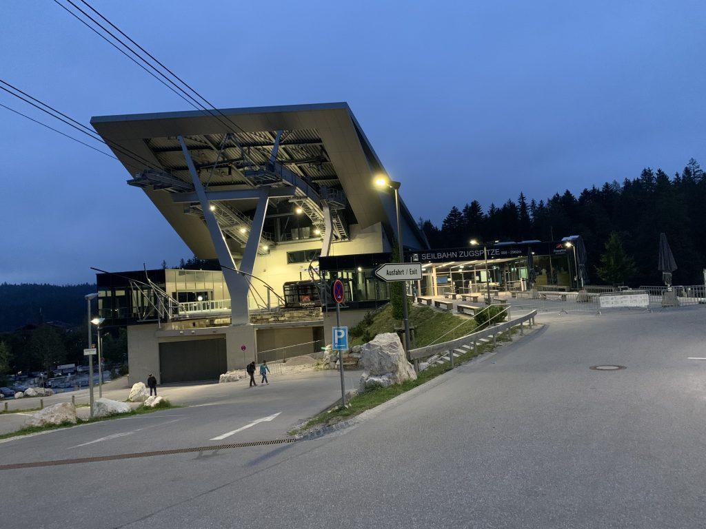 Stacja kolejki Eibsee na Zugspitze