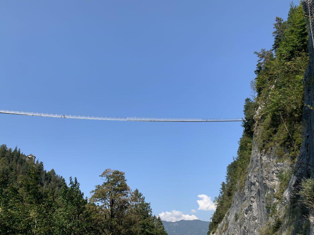 Garmich-Partenkirchen - Highline 179 z doliny