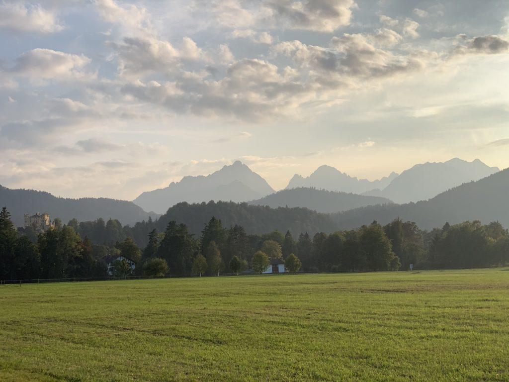 Garmich-Partenkirchen - Zachód nad zamkiem Walta Disneya