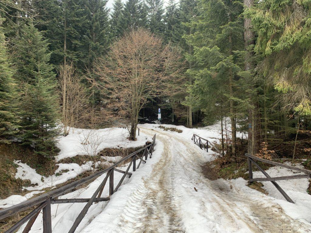 Magura Małastowska - Dojazd pod wyciąg narciarski