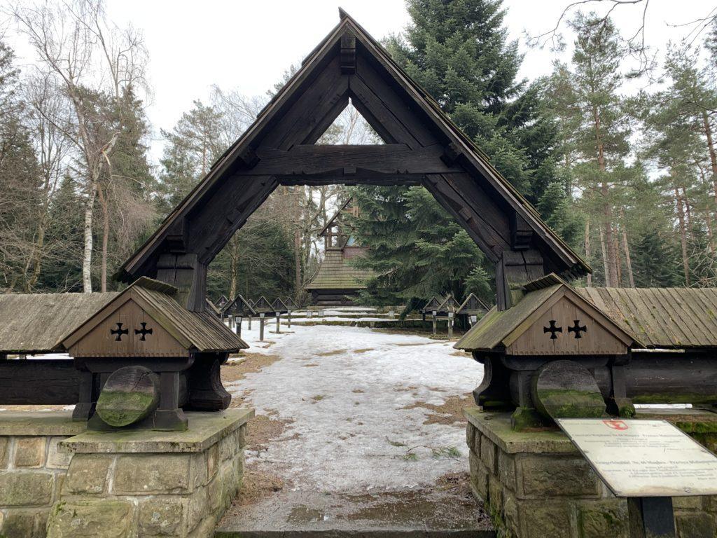 Magura Małastowska - Wejście do cmentarza nr 60