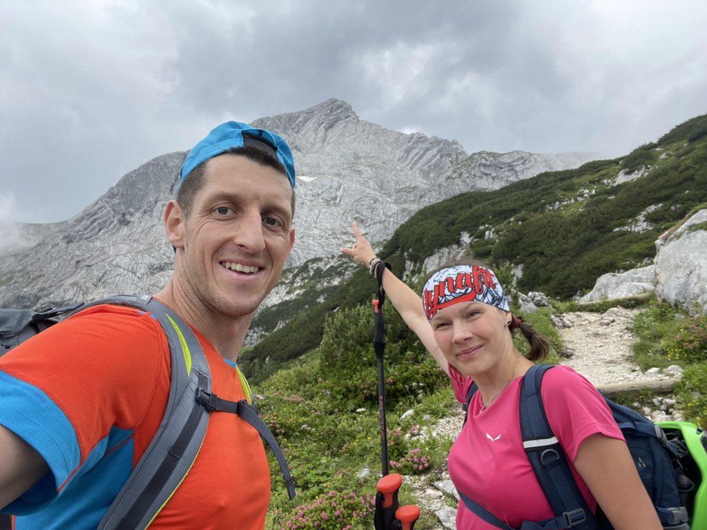 Alpspitze - Na chwilęz chmur wyszedł nasz cel