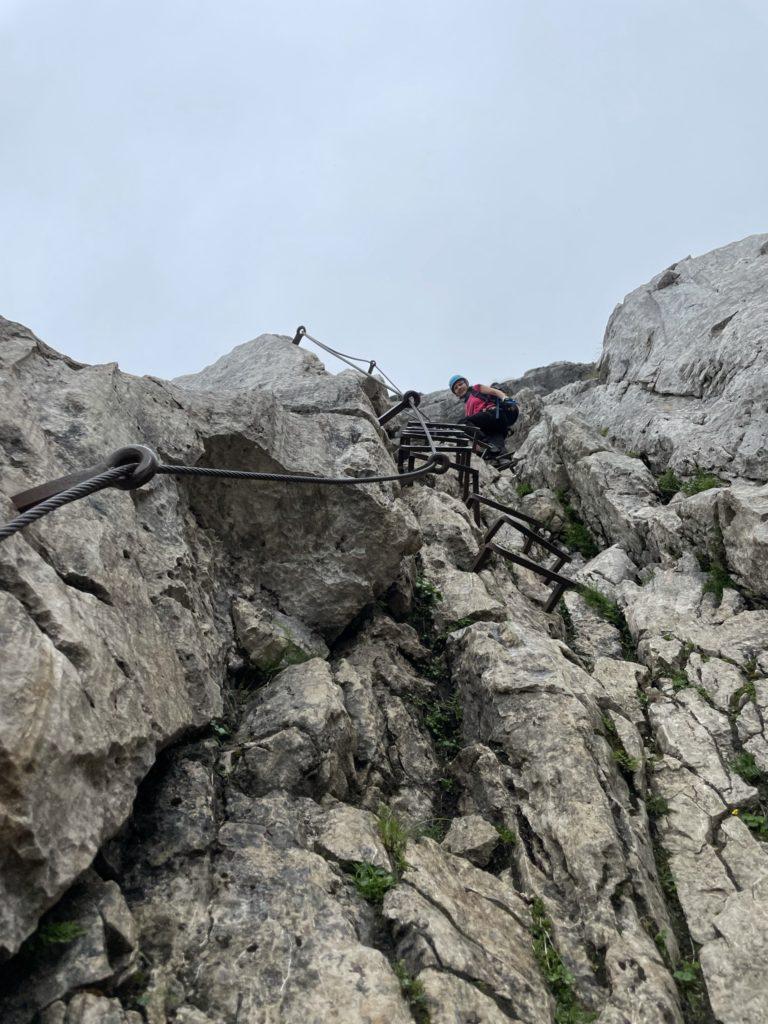 Alpspitze - Mocno eksponowane partie szczytowe